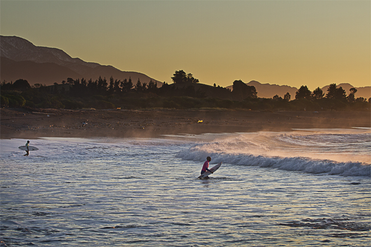 Cold water classic Kaikoura surf competition
