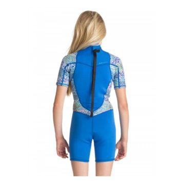 Roxy Youth 22mm Syncro Back Zip Wetsuit seablue rear