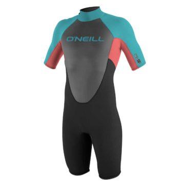 O'neill Youth Reactor 2mm S/SL Wetsuit Black/Aqua