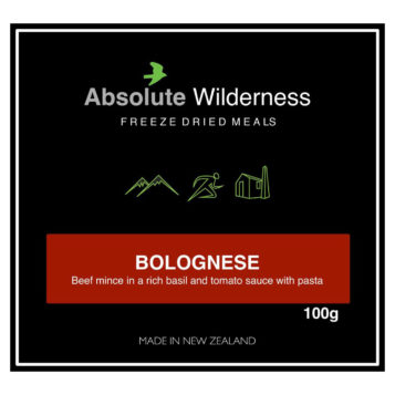 Absolute Wilderness Food Bolognese