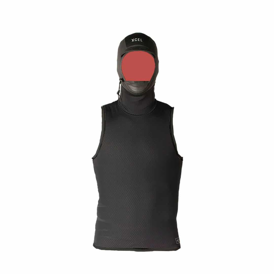 Xcel MEN'S CELLIANT JACQUARD VEST WITH A 2MM GLUED AND BLIND-STITCHED HOOD