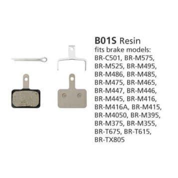BR-M446 DISC BRAKE PADS B01S RESIN 1PR