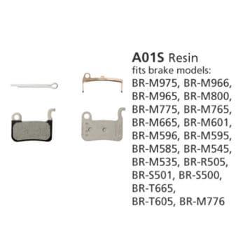 BR-M775 DISC BRAKE PADS 1PR A01S RESIN