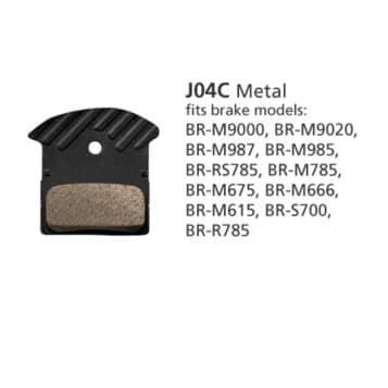 BR-M9000 METAL PAD & SPRING J04C w/FIN