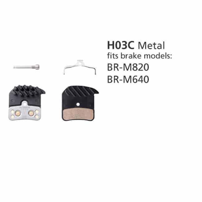 BR-M820 DISC BRAKE PADS METAL PAD H03C ICE TECH SPRING W/SPLIT PIN SAINT/ZEE